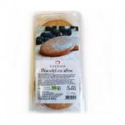 Biscuiti bio cu crema de afine, 175g Longevita