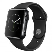 APPLE 42MM SPACE BLACK STAINLESS STEEL CASE WITH BLACK SPORT BAND