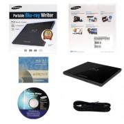 Samsung 6x SE-506CB/RSBD Portable Blu-ray Writer Bundle with 3 Pack M-DISC BD (Black, Retail Box)
