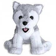 Siberian Husky Dog Puppy By Build A Furry Friend. Cuddly Soft Plush 16 Inch Stuffed Animal. Child-Friendly Handmade Qua