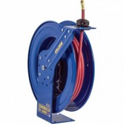 Coxreels Heavy-Duty Safety Air/Water Hose Reel - With 1/2 Inch x 75ft. PVC Hose, Max. 300 PSI, Model EZ-SH-475