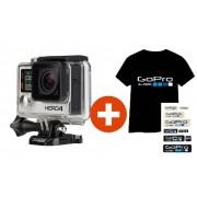 GoPro HERO 4 Kamera - Black Edition + Absolútne jedinečné LED SVIETIACE Tričko GOPRO + sada nálepiek + 15% zľava na nákup DOD kamery do auta ako darček pre Vás. Pozor ponuka je limitovaná!!!