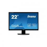 Monitor LED Iiyama ProLite X2283HSU-B1DP 21.5 inch 5ms Black