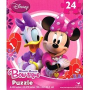Pink Daisy Duck and Minnie Mouse Bow-Tique Jigsaw Puzzle (24 Piece)