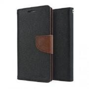 Mercury synthetic leather Wallet Magnet Design Flip Case Cover for Samsung Grand Prime G530 - Black Brown