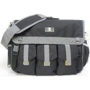 Diaper Dude - Borsa Deluxe con tasche esterne portaoggetti e tracolla, provvista di fasciatoio imbottito, colore: Nero