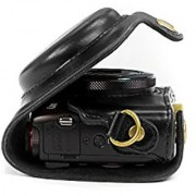 MegaGear Ever Ready Protective Leather Camera Case Bag for Canon PowerShot G7 X Digital Camera (Black)