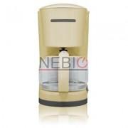 Filtru de cafea Victronic, 870 W, 10-12 Cesti, Crem
