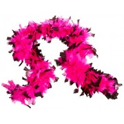 Deluxe 133g Pink/Black Feather Boa Costume Accessory