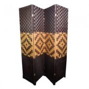 Paravan despartitor decorativ fir bambus natural model romb