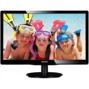 "Monitor LED Philips 19.5"" 200V4QSBR/00, Full HD (1920 x 1080), VGA, DVI-D, 8ms GTG (Negru) + Lantisor placat cu aur cu pandantiv in forma de lup de mare"