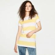 House - T-shirt w pasy - Żółty