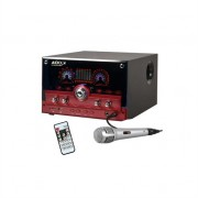 Majestic Audiola AHB-2290K 2.1 Audio System USB SD AUX MIC Incl. Microphone Red