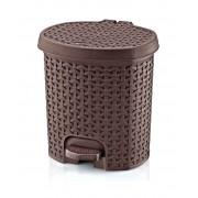 Hobby Life műanyag rattan hatású pedálos szemetes 5,5 literes