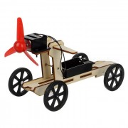 Viento Powered Car Kit Asamblea de juguetes educativos bricolaje - Negro + Rojo + Multi-Color (2 x AA)