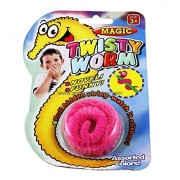 CABLESETC Twisty Wriggly Magic Worm - A fun toy for all ages (Blue) (Pink)