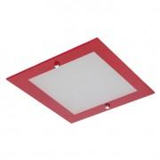 Plafon Flex Attena Quadrado Grande Vermelho