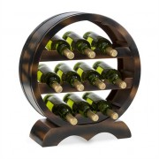 Klarstein Barrica Wood Wine Rack Wine Barrels Bottle Rack 10 Bottles Spruce