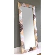 items-france PATCHWORK - Grand miroir en similicuir patchwork