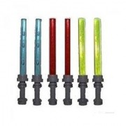 Lego Lot Of 6 Lightsaber For Small Minifigures (2 Red 2 Blue 2 Yellow)
