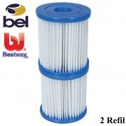 Refil para Bomba Filtrante Bel e Bestway 1168 110v 2unidades