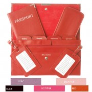 Travel Documents Set - Leather