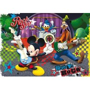 Clementoni - 23637.4 - Puzzle Super Color Maxi - 104 Pièces - Mickey Mouse Club House