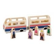 Set De Joaca Din Lemn Autobuz Cu Pasageri