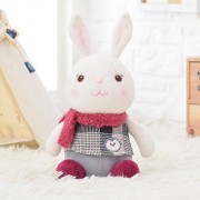 Me Too Tiramitu Rabbits Stuffed Bunny Dolls Wear Red Scarf Plush Rabbit Toys Best Gifts for Kids Children Girls 13''