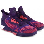 Adidas D LILLARD 2 BOOST PRIMEKNIT Men Basketball Shoes(Pink, Purple)