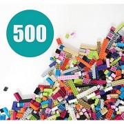 Building Bricks - Pastel Colors - 500 Pieces - Compatible with all Major Brands