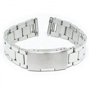 Fitian 16mm Stainless Steel Watch Band for Moto 360 2 (2nd Gen Woman) Folding Clasp button Metal Silver Fit Other Smart