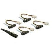 Delock Cable SAS int. 26pin-4x SAS29pin 0,5m 83065