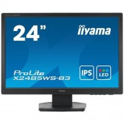 Monitor iiyama X2485WS-B3, 24'', LCD, IPS, 16:10, 4ms, 250cd, VGA, DVI-D, DP, repro