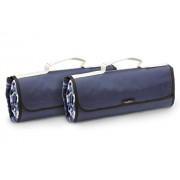 Greenfield Collection Moisture Resistant Luxury Picnic Blankets x 2 in Midnight Blue Plaid