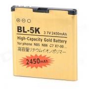 BL-5K-GD 3.7V 1100mAh bateria de li-ion para Nokia N85 / N86 / 8MP / C7 / X7-00 + mas - de oro