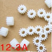 Generic Wholesale plastic gears 123A aperture 3MM DIY model toy car accessories motor spindle gear manual material