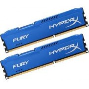 2x4GB DDR3 PC12800 1600MHz Kingston HyperX Fury Blue HX316C10FK2/8 KIT memoria