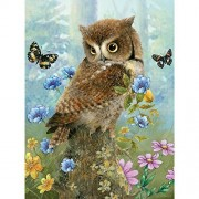 Bits and Pieces-Owl in the Meadow - 300 Piece Jigsaw Puzzle by Melville Direct