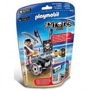 PLAYMOBIL Black Interactive Cannon with Raider Building Kit
