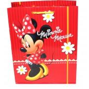Punga cadou hartie, Minnie Mouse, rosie