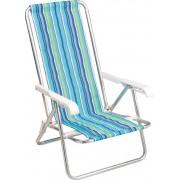 Kit com 4 Cadeiras Reclinável de 4 Posições Mor de Alumínio