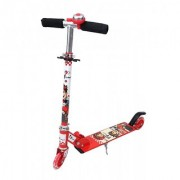 Two Wheeled Height Adjustable Scooter with Wheel lights Anti-slip foot grip Red