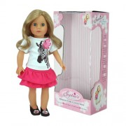 18 Inch Sophia Doll, 18 Inch Blonde Sophias Doll, Jointed Arms/Legs & Soft Body