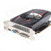 XQM GTX650 1GB 128Bit Game Graphics Card w/ CRT+ DVI + HDMI - Black + Red