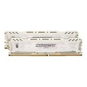 Ballistix Sport LT 8Go Kit (4Gox2) DDR4 2400 MT/s (PC4-19200) DIMM 288-Pin Memory - BLS2C4G4D240FSC (White)