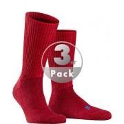 Falke Herren Socken Socken Merinowoll-Mix dunkelrot