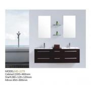 Ensemble salle de bain, 2 vasques et 2 miroirs : Le Lagon Wengé