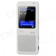"ONN Q7 Sport 1.8"" Screen MP3 / MP4 Player w/ FM / TF - Silver + White (4GB)"