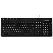 Tastatura A4Tech KD-126-2 Iluminata, leduri albe (Neagra)